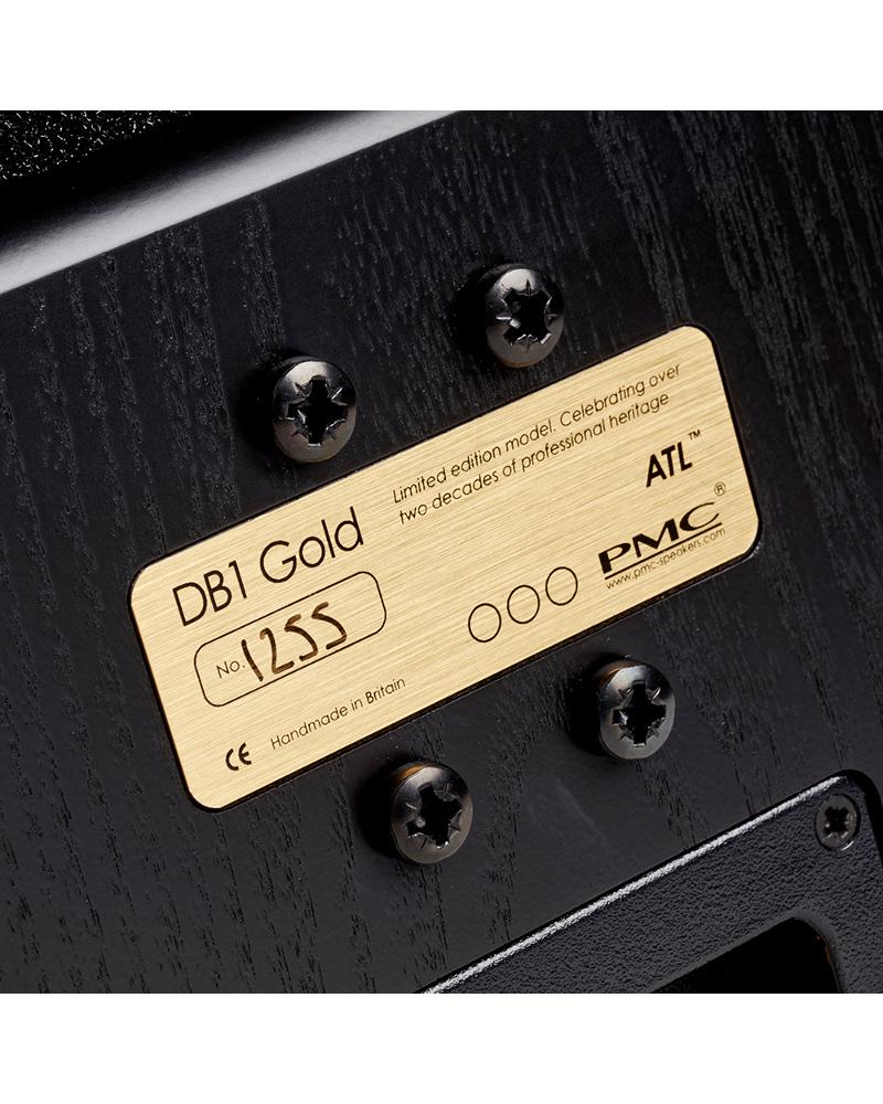 Enceintes Bibliothèque PMC DB1 Gold plaque gravée