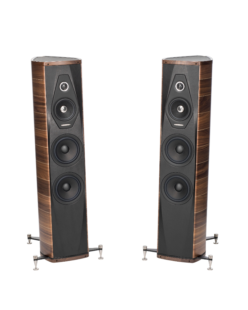 Enceintes colonne Sonus Faber Olympica III finitions Noyer Paire