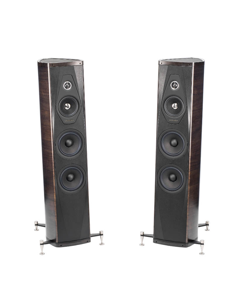 Enceintes colonne Sonus Faber Olympica III finitions Wenge Paire