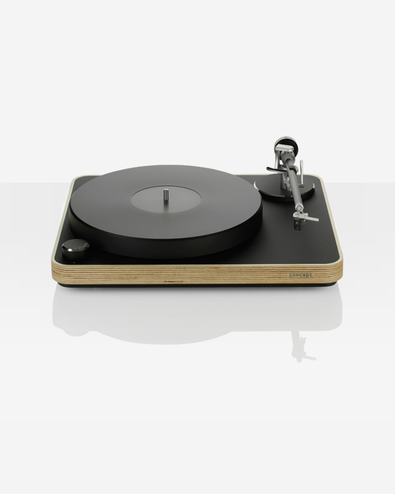 platine vinyle clearaudio concept black wood